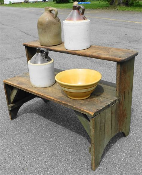 antique bucket bench 1000 images about antique crock benches on pinterest