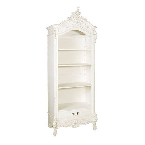 Large White French Open Bookcase By Out There Interiors Large White Bookcase