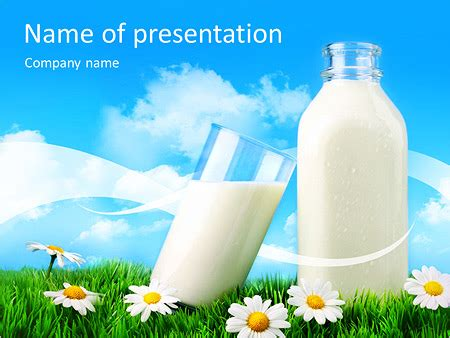 presentation themes for milk bottle of milk powerpoint template backgrounds id