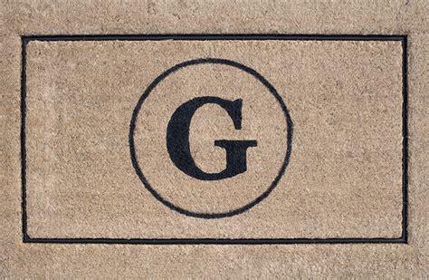 monogram front door mat custom monogram doormat for the holidays room for tuesday