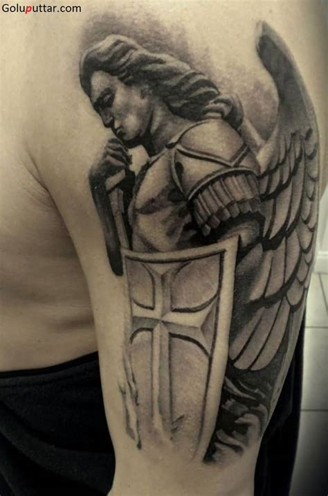 male angel tattoos designs warrior tattoos