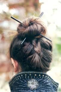 Hair Plait With Chopstick | chopstick hairstyles