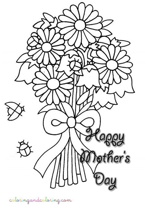free coloring pages of bouquet of roses