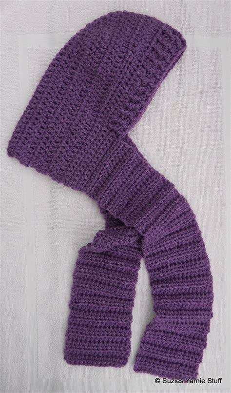 free pattern hooded scarf suzies stuff child s hooded scarf