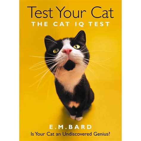 is for cat a gift book books test your cat genius edition confirm your cat s