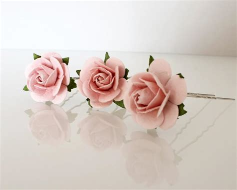 Wedding Hair Accessories Roses by Large Blush Pink Hair Pins Wedding Hair Pins Bridal