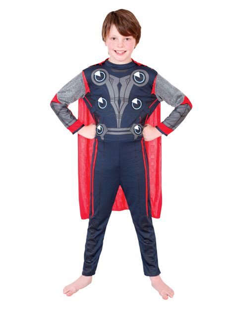 marvel the thor child costume licensed boys ebay child licensed thor marvel fancy dress costume boys