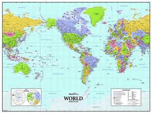 america centered world wall map maps