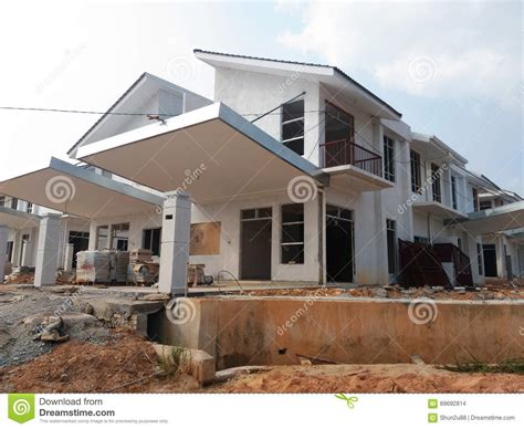 build on site homes semi finished house building at construction site stock photo image 69692814