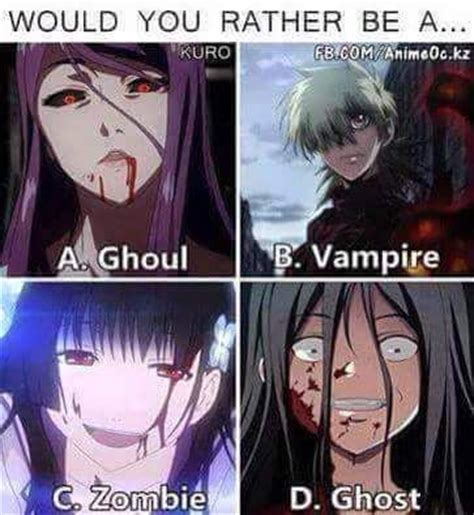 anime would you rather who would you rather be share us your pick we are