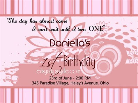 birthday invitation words birthday invitation wording easyday