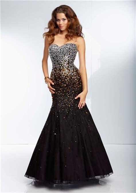 beaded corset prom dress mermaid sweetheart black organza silver gold ombre