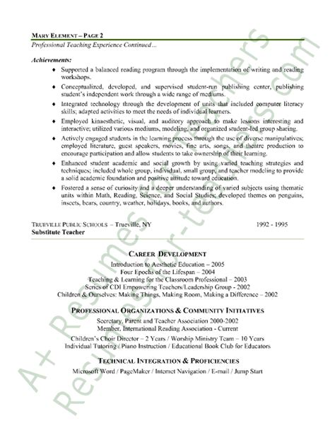 Resume Sle For Elementary Language Arts Resume Sales Lewesmr