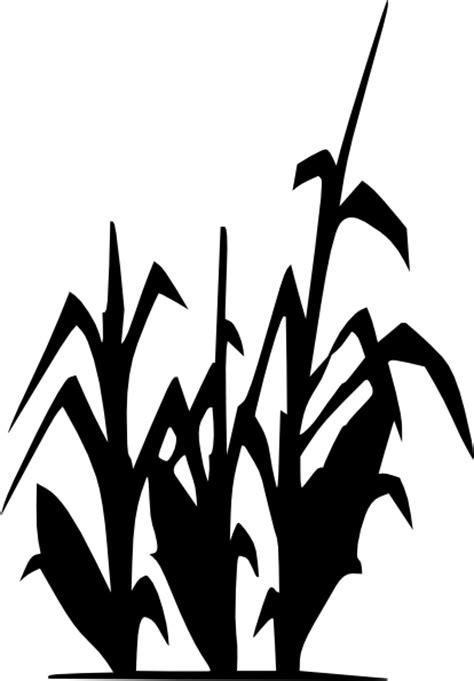 corn plant silhouette clip art  clkercom vector clip