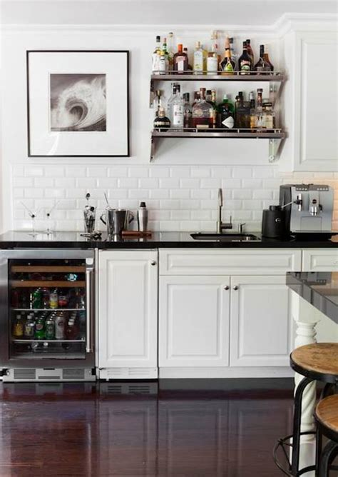 Bar Shelf   Transitional   kitchen   Adam Hunter Inc