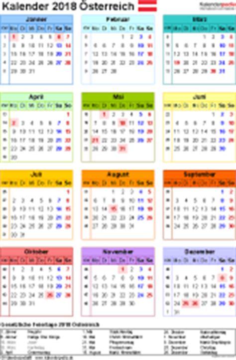 Kalender 2018 Steiermark Kalender 2018 214 Sterreich In Excel Zum Ausdrucken