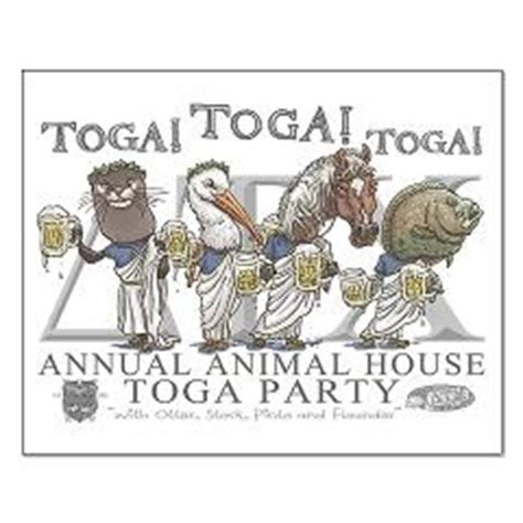 animal house stork animal house toga party small poster featured is pinto stork otter and flounder as