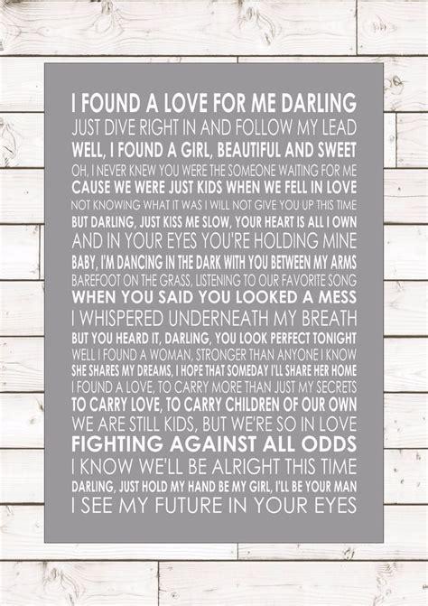ed sheeran i found a girl lyrics perfect ed sheeran word typography words song lyric