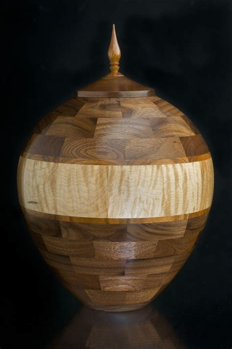 Handcrafted Cremation Urns - customized urns for ashes segmented handcrafted wooden
