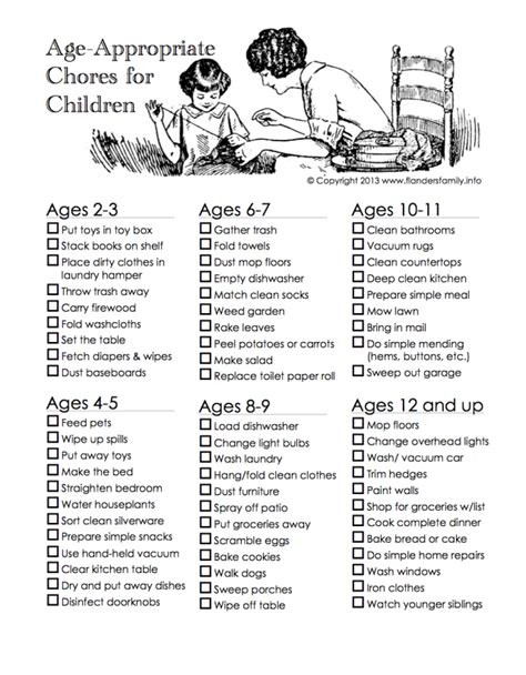 printable house chores list 301 moved permanently