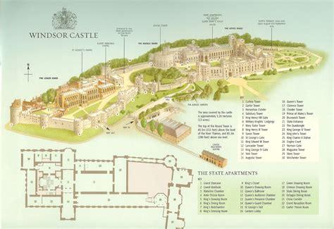 Royal Castle Floor Plan by Windsor Castle Information Kosmosaic Books G L Breedon
