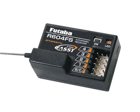 Futaba R614ff E 2 4ghz Fasst 4 Channel Receiver futaba r604fs 2 4ghz fasst 4 channel receiver 4pk futl7634 cars trucks amain hobbies