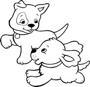due teneri cuccioli di da colorare disegni da