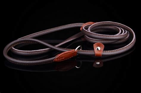 Handmade Leather Leads - handmade leather slip lead
