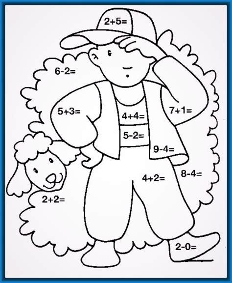 Imagenes Matematicas Para Niños Preescolar | dibujos para colorear para preescolar de matematicas