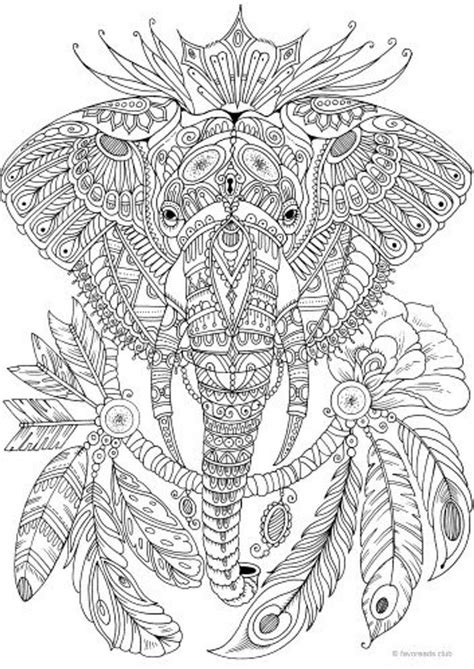 elephant printable adult coloring page  favoreads