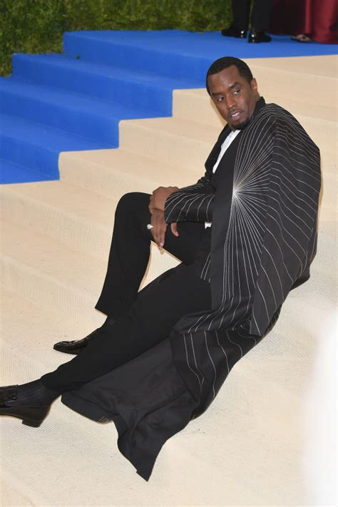 Diddy Is Lazy by P Diddy Lounging In The Middle Of The Met Gala 2017