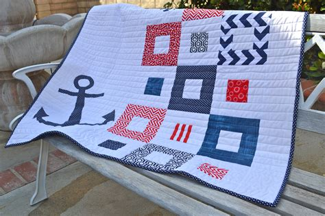 Free Nautical Quilt Patterns by Nautical Baby Quilt