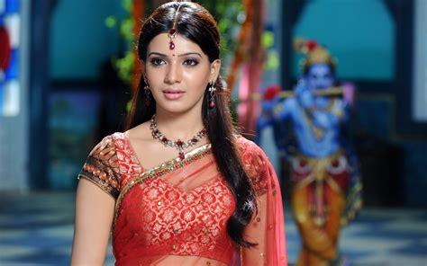 samantha saree wallpapers hd wallpapers id