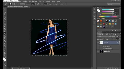tutorial photoshop cs5 neon light beams criando efeitos de fios de neon cs6 cs5 youtube