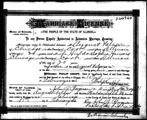 Chicago Marriage License Records Connie Nelson S Genealogy Marriage Records Index