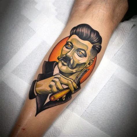 haircut tattoo designs 100 barber tattoos for masculine design ideas