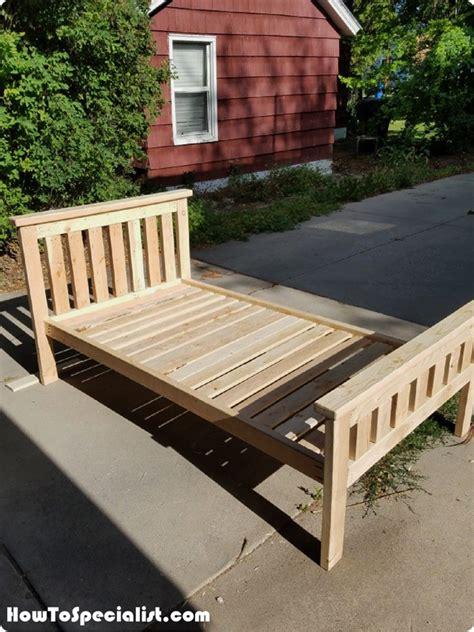 diy  bed frame howtospecialist   build step