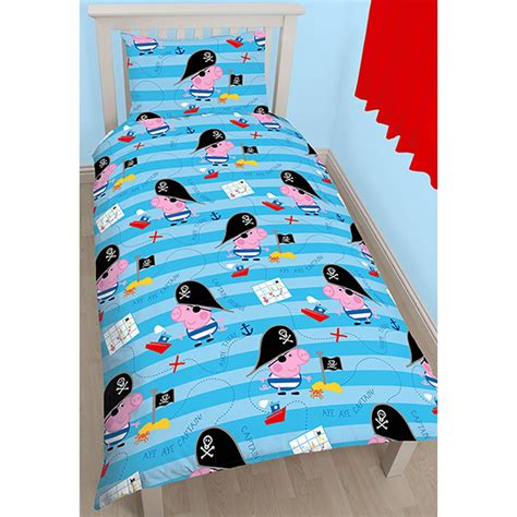 george pig bedroom accessories peppa pig george pirate single duvet cover pillowcase