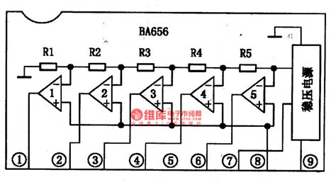 integrated circuit for led ba656 the integrated circuit of led potential indicating driver led and light circuit