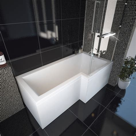 bathtub shapes l shape shower bath right handed buy online at bathroom city