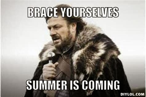 Summer Is Coming Meme - brace yourselves summer is coming a little desert