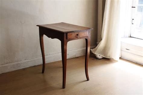 Small Side Desk Louis Xv Style Small Walnut Side Table With Curved Legs 18th Century For Sale At 1stdibs