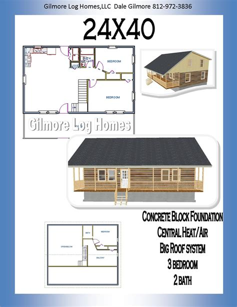 24x40 cabin 24x40 house plans gilmore log homes floor plans
