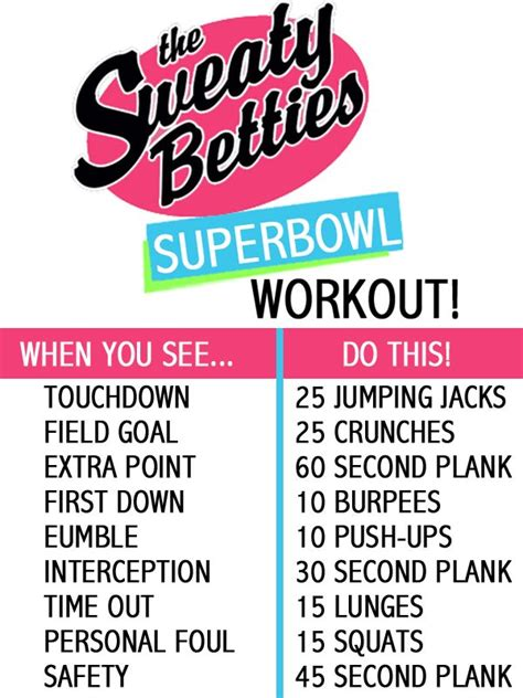 superbowl workout health and