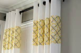 Yellow Grey Curtains G Ikea Curtains Upcycled