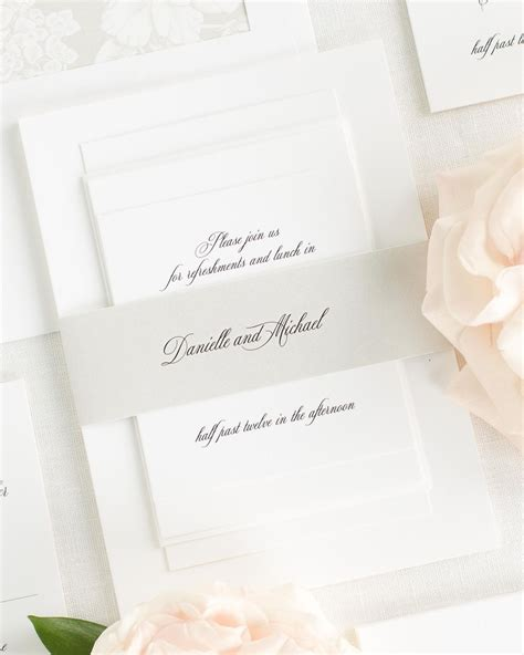 Wedding Invitation Collections by Danielle Wedding Invitation Collection Shine Wedding