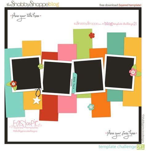 free digital scrapbooking card templates best 25 scrapbook templates ideas on simple