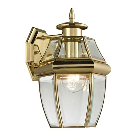 antique outdoor lighting shop westmore lighting keswick 12 in h antique brass outdoor wall light at lowes com