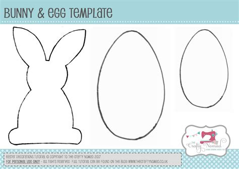bunny template for sewing easter bunny bunting and easter egg decorations tutorial