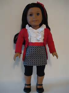 18 american girl doll outfit black skirt white by dollsizedesigns